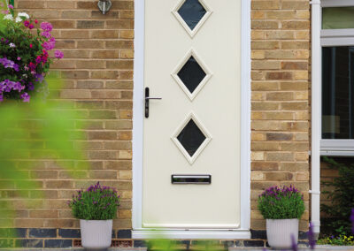 3 Diamond Cream Composite door