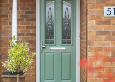 Chartwell Composite door pad handle Frost glass