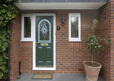 Seyward Windows Door Hampshire - Green Composite
