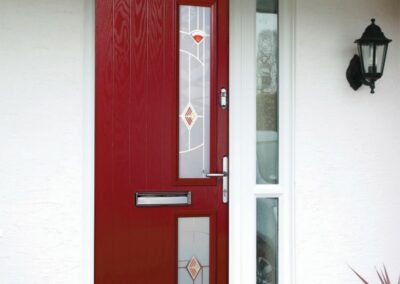 Seyward red composite front Door Bearwood