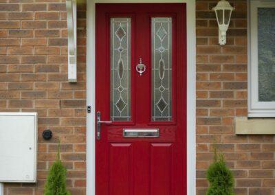 Seyward red composite front Door Poole