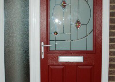 Seyward red composite front Door Bournemouth