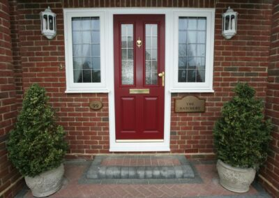 Seyward red composite front Door Lytchett Matravers