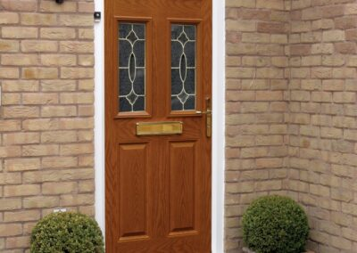Seyward Composite Golden Oak front Door Wimborne