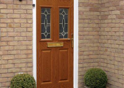 Seyward Composite Golden Oak front Door Wimborne