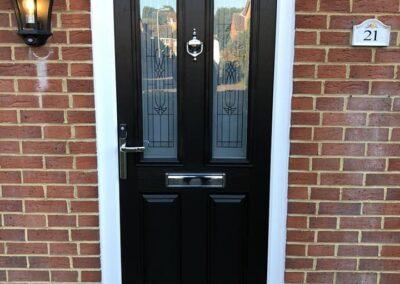 Black composite doors Dorset