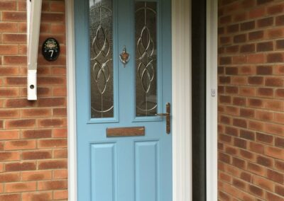 Seyward Composite Duck Egg blue front Door Blandford