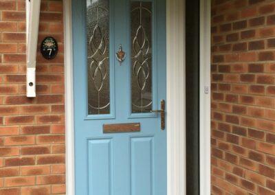 Seyward Composite Duck Egg blue front Door Blandford