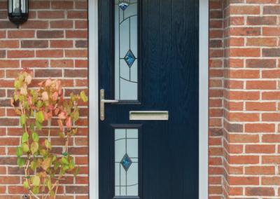 Seyward Composite Twinside blue front Door Dorset