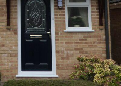 Seyward Composite blue front Door Dorset