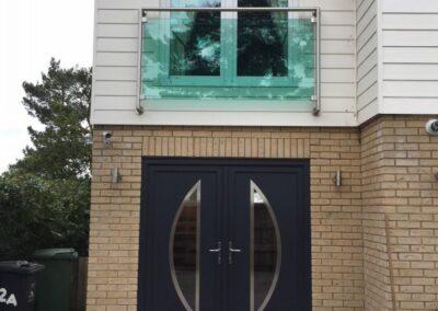 Seyward UPVC Grey Modern Double Front door