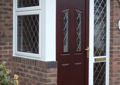 Seyward Front porch door UPVC panel