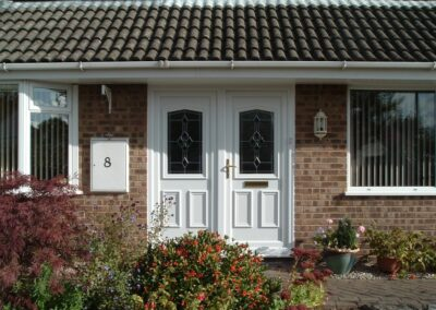 Seyward Front door UPVC with matching sidelight