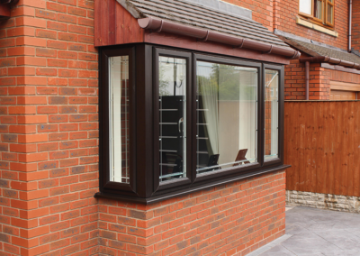 Seyward Window double glazing Rosewood UPVC window