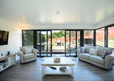 Black UPVC Four Pane Patio Doors