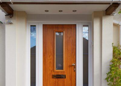 Oak Composite door and white sidelights