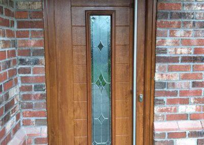 Oak Composite door with 1800 Long bar handle