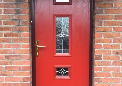 Red Composite door fitted in Wimborne