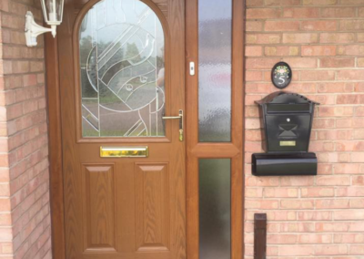 Oak Composite door and UPVC sidelight