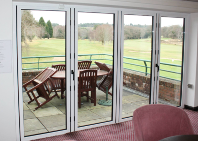 Dual colour bi-fold doors fitted in Broadstone