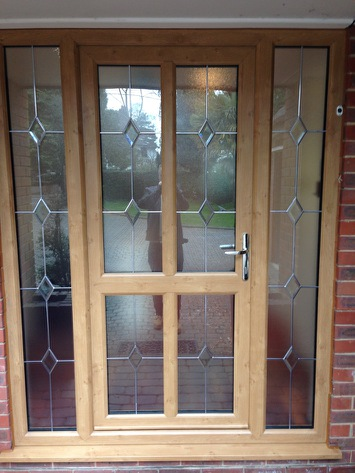 Irish Oak UPVC door and sidelights fitted in Ferndown
