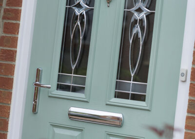Two panel two angle Chartwell Green door