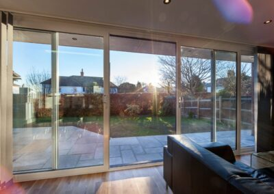 White UPVC Four Pane Patio Doors