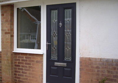 Blue Composite door and side window