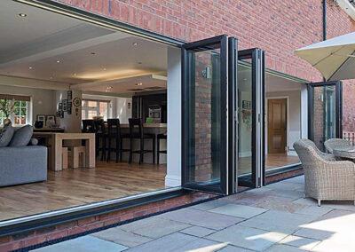 Grey Aluminium bi-fold doors Dorset
