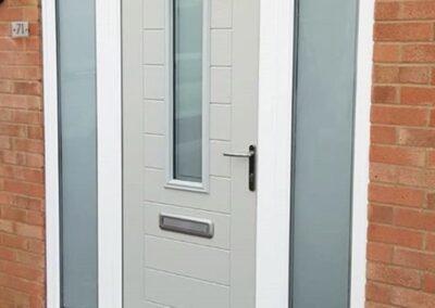Pearl Grey composite door with sidelights
