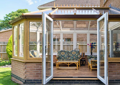 conservatory french door, dual colour
