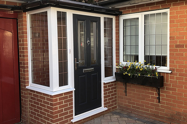 Composite door and porch Ferndown Dorset