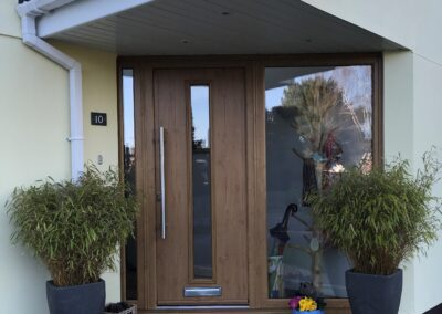 Irish Oak Composite door and sidelights fitted in Ringwood