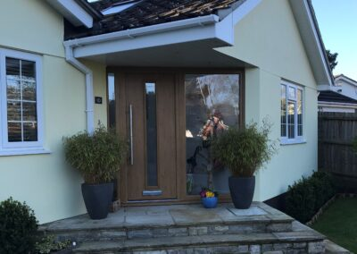 Composite Front door Irish Oak fitted Ringwood