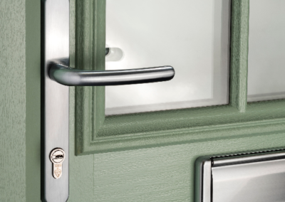 Graphite handle composite door